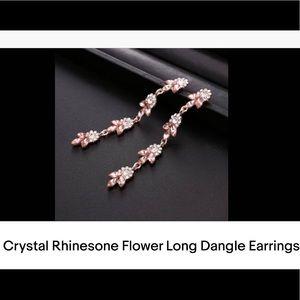 New Beautiful Long Flower Dangle Earrings